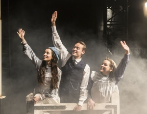 The Railway Children by Kenny, , Written by - Mike Kenny, Director - Damian Cruden, Designer - Joanna Scotcher, Lighting - Richard G Jones, King's Cross, London, Uk, 2015, Credit: Johan Persson/