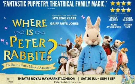 SAVE 25% ON TICKETS TO SEE WHERE IS PETER RABBIT?